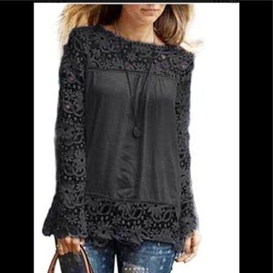 Tops - Beautiful black floral top